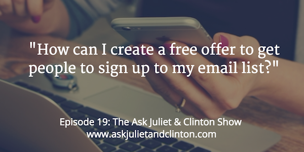 create a free offer for email marketing
