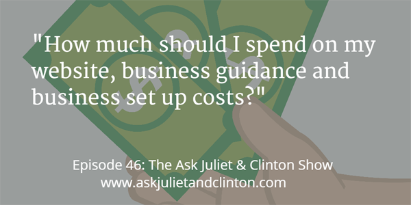 046 how much should i spend on business set up costs