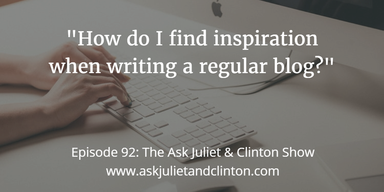 finding inspiration when writing a blog