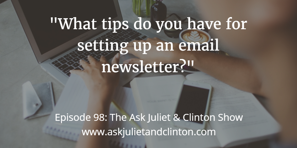 setting up an email newsletter