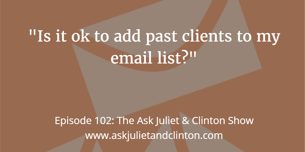 adding past clients in your email list