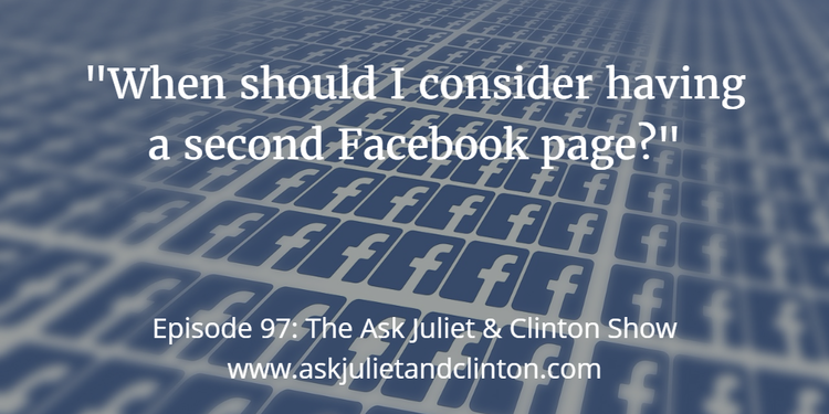 when to have second facebook page
