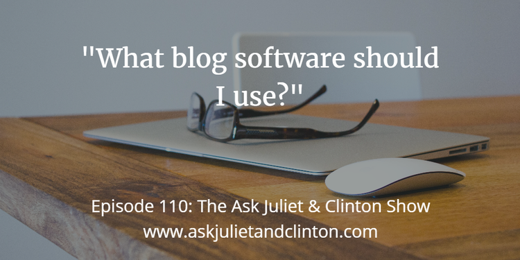 blog software to use