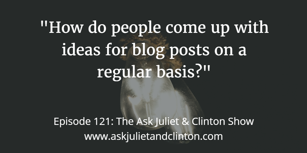 getting ideas for your blog posts