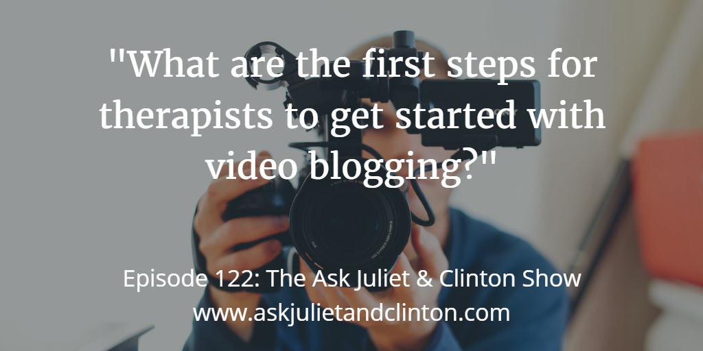 first step in video blogging