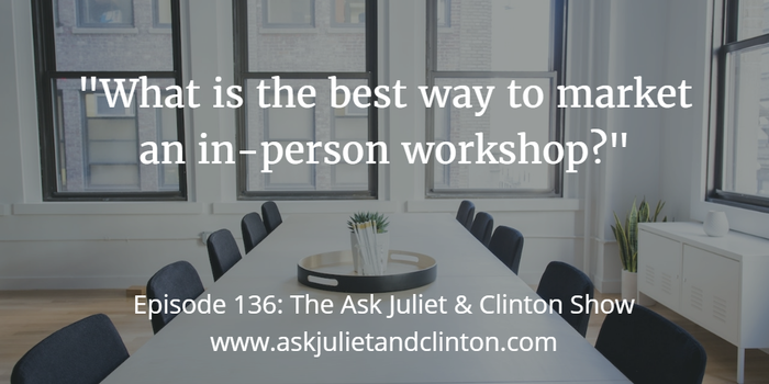 best way to market in-person workshop