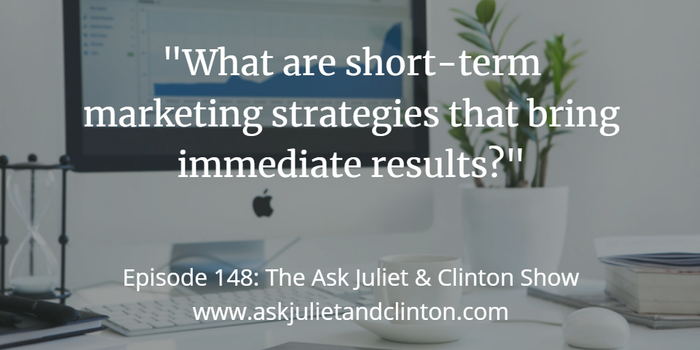 short term marketing strategies